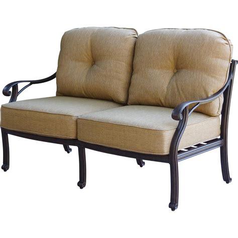 loveseat lawn chair patio furniture seating loveseat cast aluminum nassau