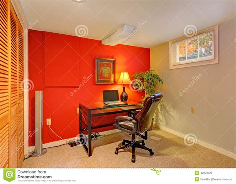 office room in contrast bright colors stock photo image