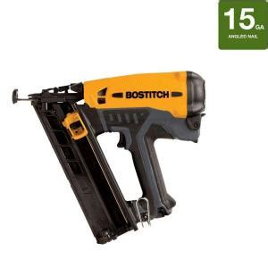 Bostitch Flooring Nailer Home Depot by Bostitch 15 Fn Angled Finish Nailer Gfn1564k The