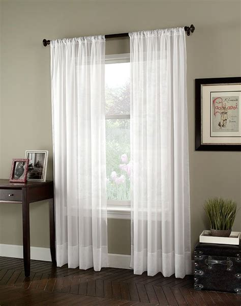 and white curtain for bedroom and living