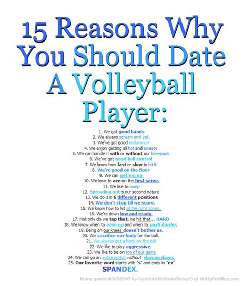 15 Reasons Why You Should Date A Volleyball Player 1 We