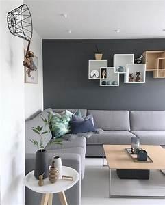 Scandinavian, Interior, Design, Grey, Section, Sofa, Oak