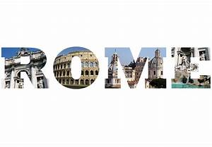 Rome Photo Lettering Wall Decal - Italy Picture Vinyl Decor