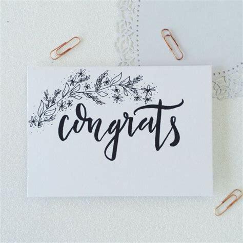congrats calligraphy  card wedding card