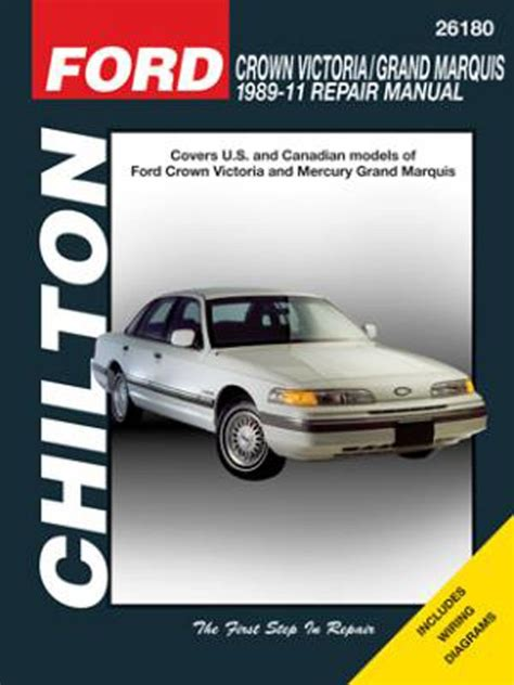 car repair manuals download 1988 mercury grand marquis user handbook ford crown victoria mercury grand marquis chilton repair manual 1989 2011 hay26180