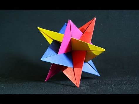 how to make 3d star and balls origami kusudama 3d