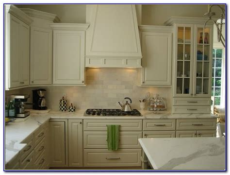 cream colored subway tile backsplash tiles home design