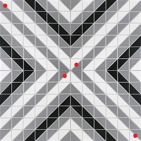 Classic Diagonal 2'' Triangle Geometric Floor Tiles Sale