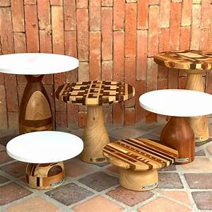 Wooden, Cake, Stand, Large