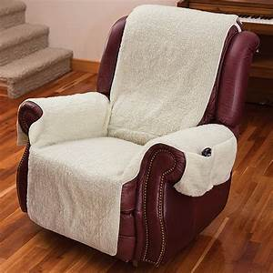 New recliner chair cover one piece w armrests and pockets for Chair back covers for leather chairs