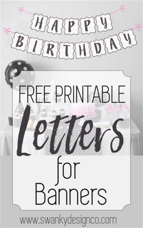 free printable black and white banner letters printable