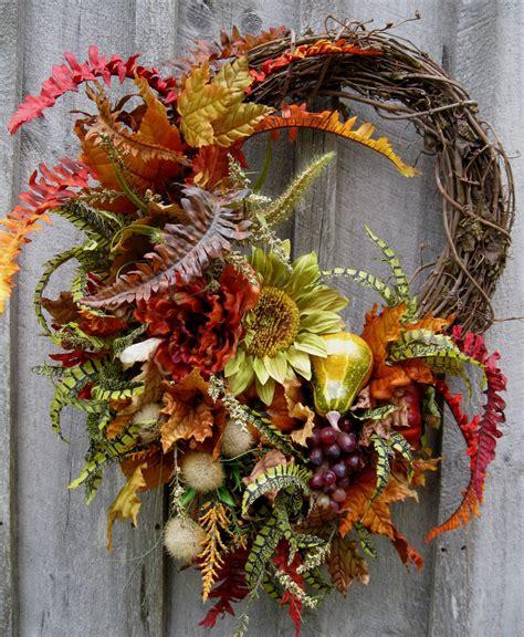 autumn wreath autumn wreath fall floral designer wreaths sunflowers