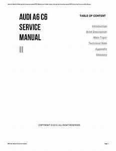 Audi A6 C6 Service Manual