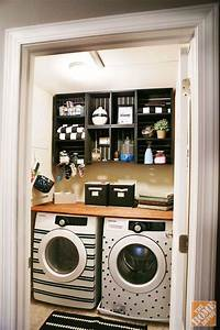Beautifully organized small laundry rooms the happy housie for Laundry room redo blog