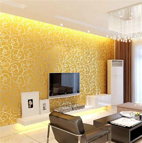 mroll modern damask flock velvet textured wall paper