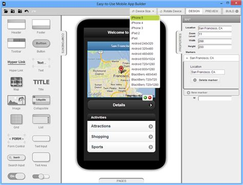app design software easy to use mobile app builder easy to use mobile app