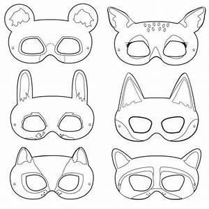 10 images about printable coloring paper masks on With woodland animal masks template