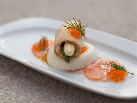 salmon carpaccio  asparagus panna cotta recipe
