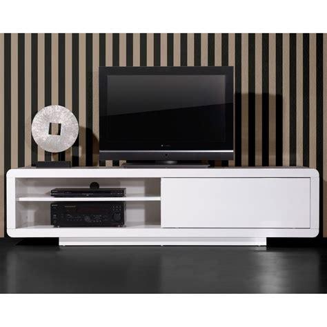 bureau design blanc laqué meuble tv porte coulissante laqué l180xp45xh45cm