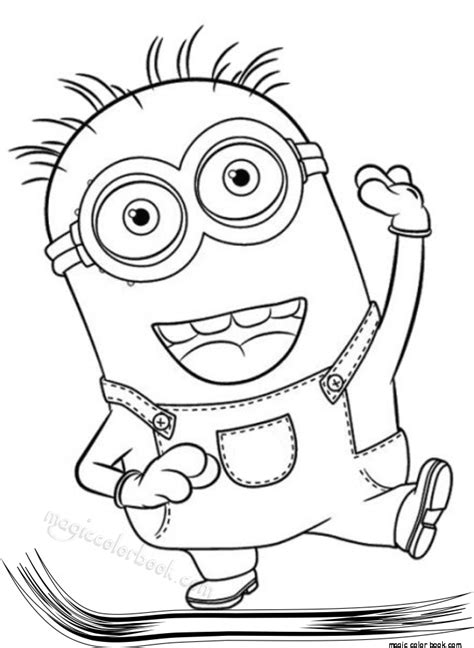 color book pin by magic color book on minions coloring pages free
