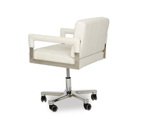 white modern desk chair dreamfurniture com alaska modern white leather office