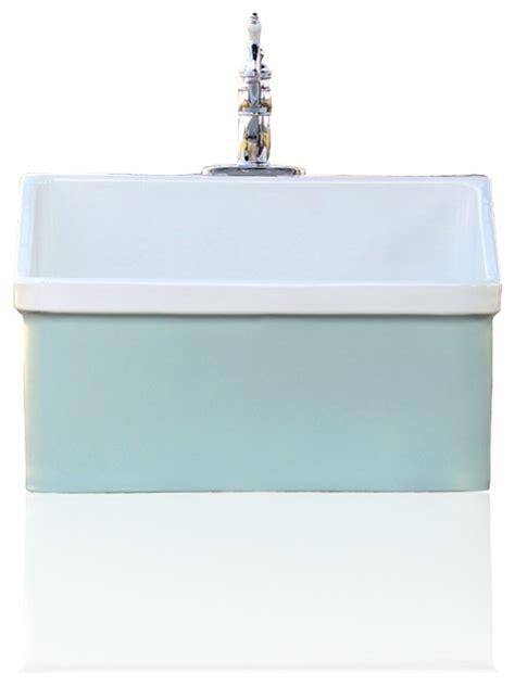 green blue vintage style kohler hollister farm sink apron utility sink    craftsman