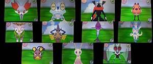 Generation 6 shiny Pokemon by Shadz-the-Fox on DeviantArt