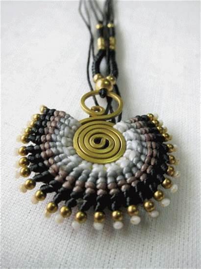 Necklace Thread Thailand Handmade Jewelry Boho Wax