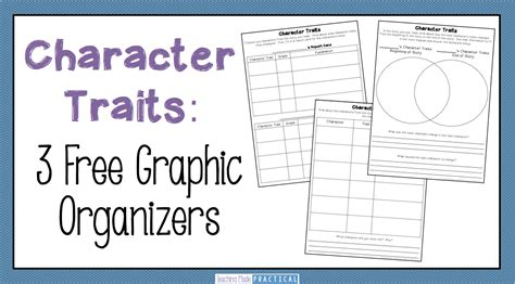 teaching character traits low prep activities teaching