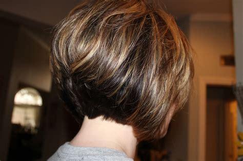 Short Layered Stacked Bob Hairstyles Back View