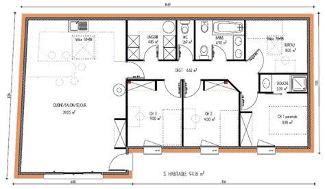 plan maison moderne 3 chambres programmes de maisons à contruire en loire atlantique