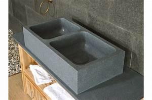 Evier Cuisine Granit : vier de cuisine en granit v ritable aquadeos poser ~ Premium-room.com Idées de Décoration