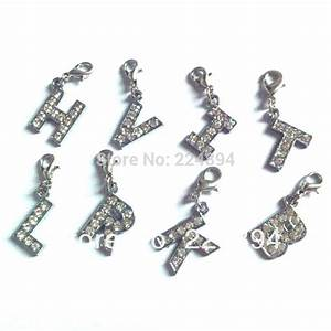 26pcs lot each letter 1pcs crystal initial letter alphabet With metal alphabet letters for jewelry