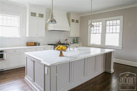 grey and white cabinets white kitchen with grey island transitional kitchen