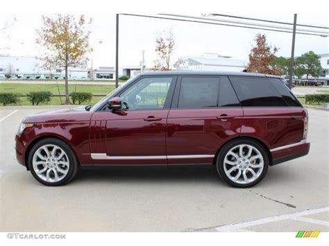 red land rover 2016 montalcino red metallic land rover range rover hse