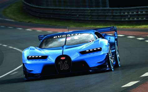 Blue Bugatti Car Hd Wallpaper by Bugatti Vision Gran Turismo Blue Cars Road Car Vehicle
