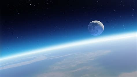 wallpaper horizon earth planet blue sky atmosphere