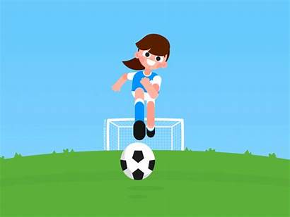 Player Unstoppable Dribbble Soccer Dribbling Motion Cartoon