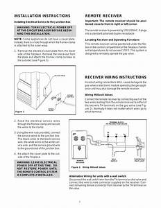 Remote Receiver  Installation Instructions  Receiver