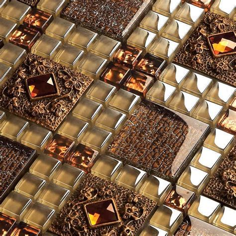express shipping free!! brown glass mosaic tiles for