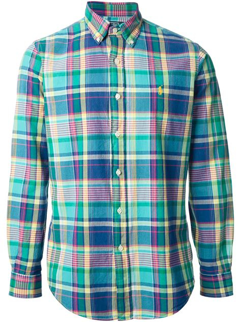 polo ralph plaid shirt for lyst