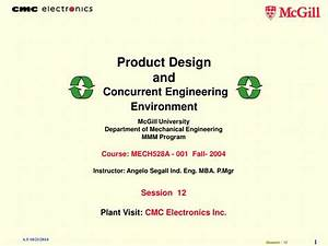 PPT - Product Design and Concurrent Engineering ...