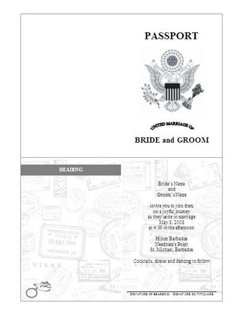 Passport Template Blank Passport Template Www Imgkid The
