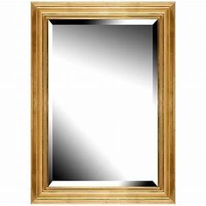 Miroir Doré Rectangulaire : brio miroir vend me dor 50x70 cm achat vente miroir cdiscount ~ Teatrodelosmanantiales.com Idées de Décoration