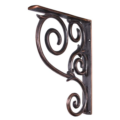 countertop copper lazy wrought iron scrolled bar bracket corbel mcor1 all