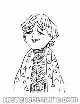 Slayer Demon Coloring Anime Printable Characters Manga Drawing Boy Mister Mistercoloring Printables Fictional sketch template
