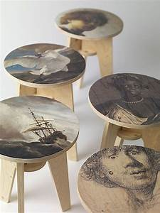 Arts And Crafts Möbel : art craft plywood print stools from piet hein eek rijksmuseum product m bel bemalte ~ Orissabook.com Haus und Dekorationen
