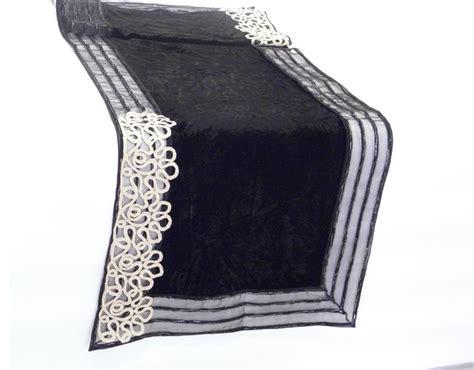 black velvet table runner table runner in crushed black silk velvet with black and