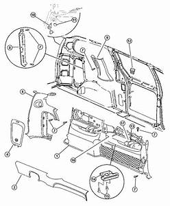 1999 Dodge Caravan Se 3 3l V6 A  T Panel  Quarter Trim