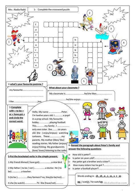 hobbies worksheet  esl printable worksheets